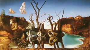 2-reflection-elephants-illusion-paintings-by-salvador-dali-preview